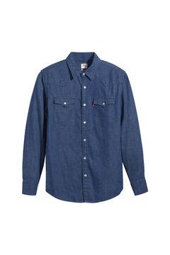 Cortefiel Camisa denim Western Shirt Azul