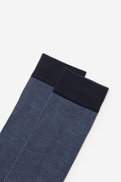 Cortefiel Fine striped socks Navy