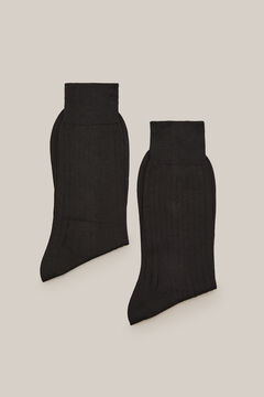 Cortefiel Cotton dress socks pack Black
