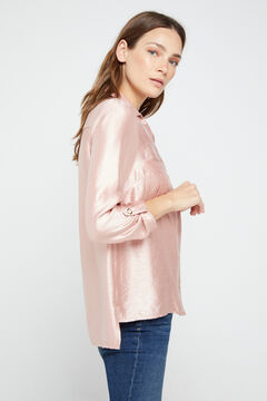Cortefiel Lamé shirt Pink