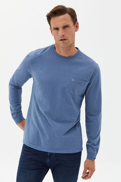 Cortefiel Long-sleeved T-shirt Royal blue