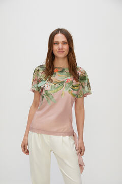 Cortefiel Tropical tie top Pink