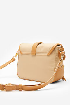 Cortefiel Medium nylon crossbody bag Stone