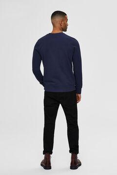 Cortefiel Organic sweatshirt Navy