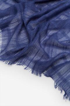 Cortefiel Fular textura raya lúrex Azul