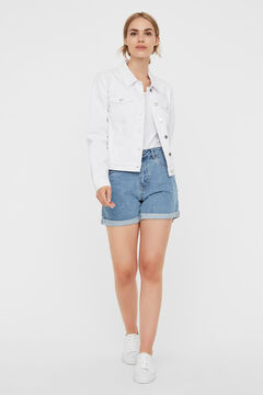 Cortefiel Organic cotton denim jacket White
