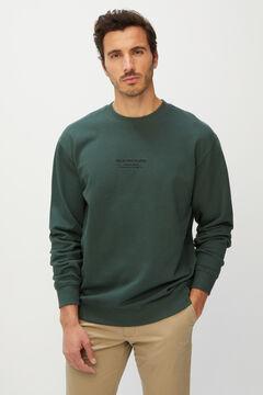 Cortefiel Slogan sweatshirt Pistachiogreen
