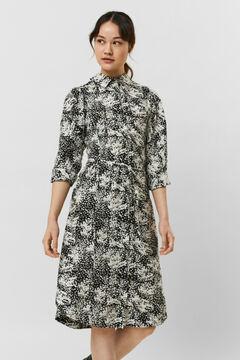 Cortefiel Midi shirt dress Stone