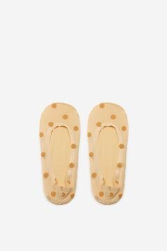 Cortefiel Plumetis no-show socks Stone
