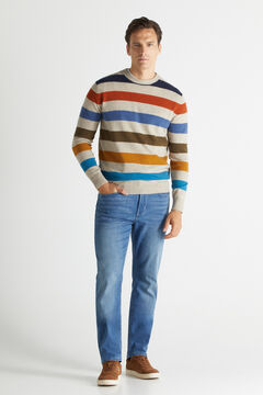 Cortefiel Jeans regular média Azul