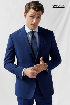Cortefiel Deep blue tailored fit COOLMAX® blazer Royal blue