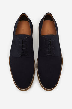 Cortefiel Lace-up rubber-soled shoes Navy