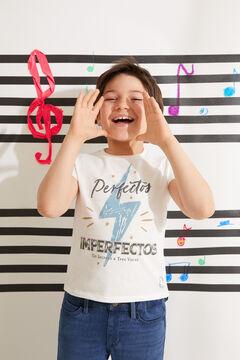 Cortefiel Camiseta infantil Perfectos Imperfectos Branco