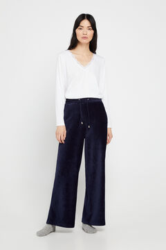 Cortefiel Cropped trousers Navy
