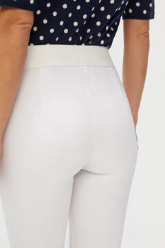 Cortefiel Skinny fit high waist comfort trousers White