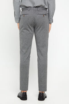 Cortefiel Houndstooth chinos. Gray