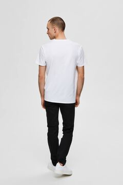 Cortefiel 3-pack organic cotton t-shirts White