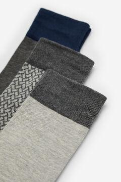 Cortefiel Pack of 3 pairs of socks Dark gray