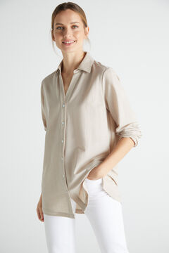 Cortefiel Comfort shirt Stone