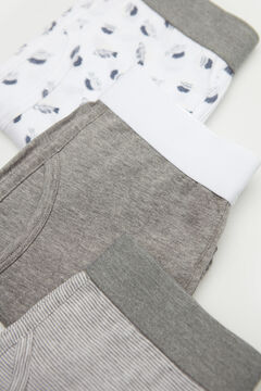 Cortefiel 3-pack jersey-knit boxers Gray
