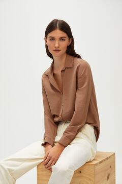 Cortefiel Piqué jersey-knit shirt Camel