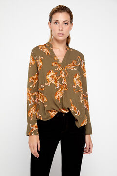 Cortefiel Eco-Vero fabric blouse Green