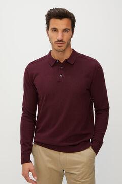 Cortefiel Men's polo shirt jumper Red