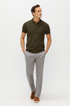 Cortefiel Essential classic fit organic cotton chinos Gray
