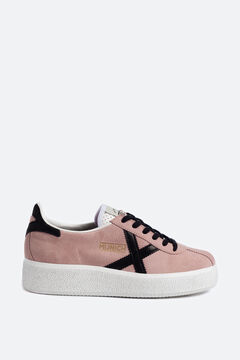 Cortefiel Munich women's trainers in pink with platform sole Lilac