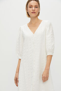 Cortefiel White texture dress White