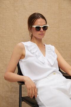 Cortefiel SEASIDE LETRAS  sunglasses Ecru