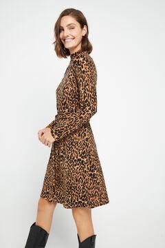 Cortefiel Soft feel mock turtleneck dress Printed