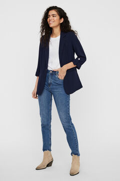Cortefiel Roll-up sleeve blazer Navy