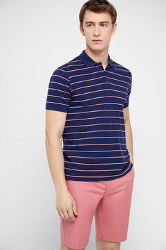 Cortefiel Short-sleeved polo shirt Lilac