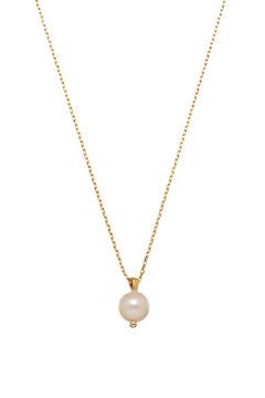 Cortefiel Collar corto TOUJOURS - Perla - Oro Amarillo