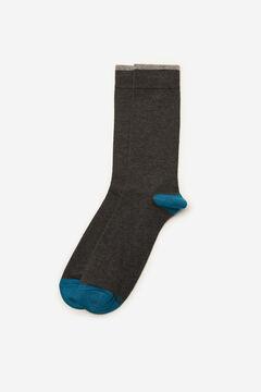 Cortefiel Plain sports socks Dark gray
