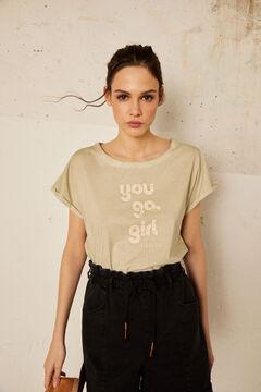 Cortefiel Camiseta de manga corta Burdeos