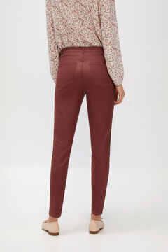 Cortefiel Faux leather sensational jeggings Fuchsia