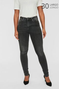 Cortefiel High rise cigarette fit jeans Gray