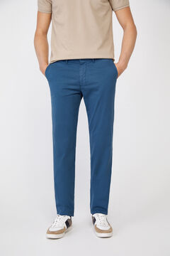 Cortefiel Essential slim fit lightweight chinos Royal blue
