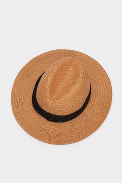 Cortefiel Sombrero rafia Marrón