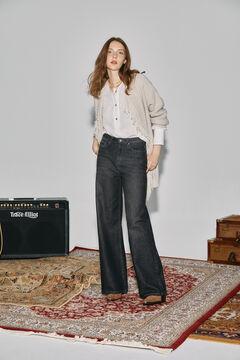 Cortefiel Wide leg jeans Black