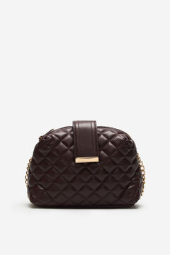 Cortefiel Quilted crossbody bag Red