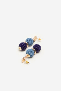 Cortefiel Gold earring Blue