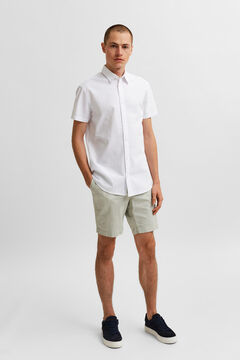 Cortefiel Plain shirt White