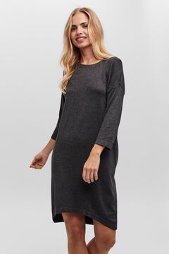 Cortefiel Short dress with long sleeves Gray