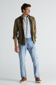 Cortefiel Jeans extra suaves regular clara Azul
