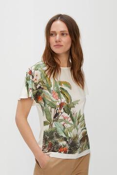 Cortefiel Tropical tie top Ecru