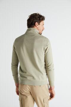 Cortefiel Turtleneck sweatshirt Green