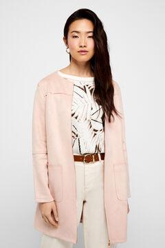 Cortefiel Frock coat Pink